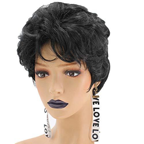 Perücke kurze lockige Haare flauschige Perücke