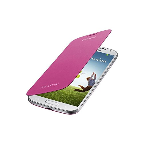 Samsung Flip - Funda para móvil Galaxy S4 (Con tapa, protección del terminal, sustituye a la tapa trasera), rosa- Versión Extranjera