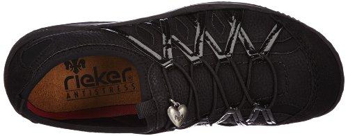 Rieker, Sneaker donna Nero nero 36 Nero (Schwarz/Schwarz/Schwarz/Schwarz / 01)