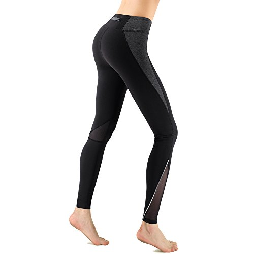 d3eb59deec523 Zenwow Women s Sports Leggings High Waist Yoga Pants Gym Workout Running  Tights Back Zipper Pocket (