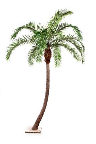 2 x Künstliche Phönix Palme mit gebogenem Stamm, Deluxe, 360 cm – hochwertige Kunstpalme/Palme künstlich
