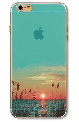 iPhone 7 Handyhülle Schutzhülle Hülle Silikon Cover Case 4.7 Ultra Slim Ultradünn Etui aus TPU transparent Strand