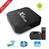 Android TV Box, x96 Mini Smart TV Box avec Mini Clavier Android 7.1 Neueste Amlogic s905 W Quad Core Prozeßor, 4 K Ultra HD H.265, 2 x USB-anschluss, HDMI, WiFi Media Player