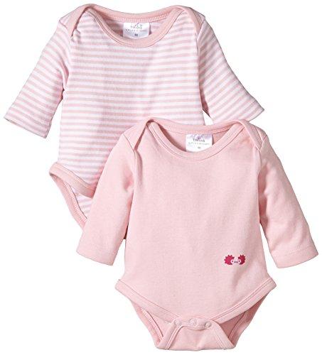 Twins Baby - Mädchen Langarm-Body im 2er Pack, Mehrfarbig, Gr. 80, rosa (13-2804 - rosé)