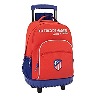 "41XQYFi9Q5L. SS324  - Safta Mochila Escolar Grande Con Ruedas Atlético De Madrid ""Coraje"" Oficial 320x140x460mm"