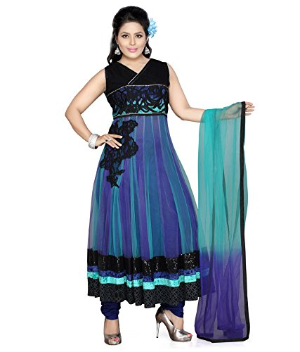 Mint Women's Cotton Anarkali Suits (111000227_Blue _Free Size)