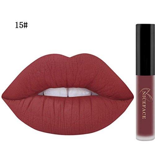 Tefamore Miss Rouge à Lèvres Liquide Mat Waterproof Hydratant Brillant Maquillage à Lèvres (15#)