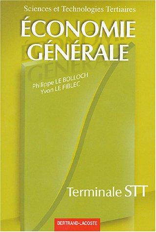 Economie générale Tle STT