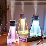 Hermosairis Mini USB Ultraschall Wishing Flasche Luftbefeuchter Luftbefeuchter Aroma Ätherisches Öl Diffusor Aromatherapie für Büro SPA