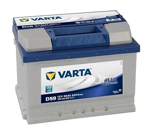 Varta 58360Batterie pour voiture Blue Dynamic, 60Ah, 540A (Prix + 7,50EUR consigne)