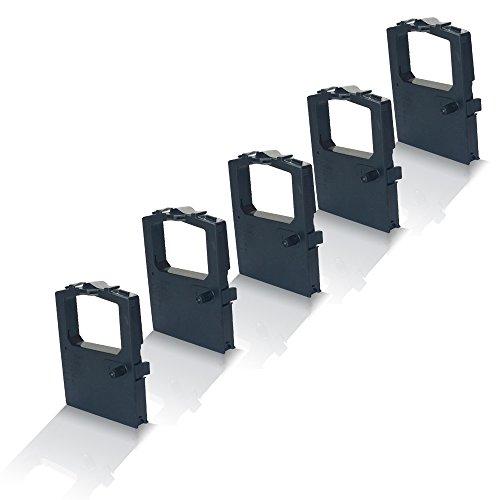 Preisvergleich Produktbild 5x Kompatible Schriftbänder für OKI ML 5590 Unisys ML 1491 01126301 ML 5590 ML5590 Drucker-Farb-Band Black Color Print Serie