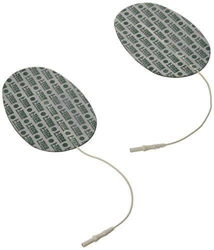 IACER I-TECH - 2 oval Elektrode 130x76mm - Buchsenlitze 2 mm -