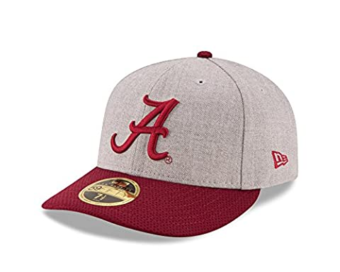 NCAA Alabama Crimson Tide Adult Change Up Redux Low Profile 59FIFTY Fitted Cap, 7 5/8, Heather Gray