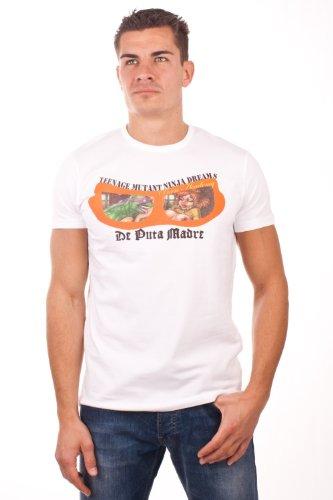 De Puta Madre 69 T-Shirt kurzarm Teenage mutant ninja dream 4236, size:M, Farbe:weiss