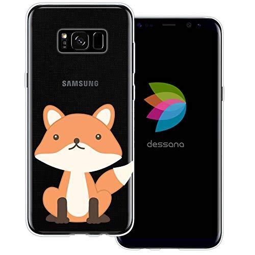dessana Comic Füchse Transparente Schutzhülle Handy Case Cover Tasche für Samsung Galaxy S8 Comic Fuchs