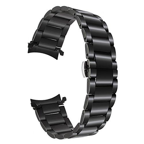 TRUMiRR Armband kompatibel für Gear S3 Classic/Frontier Armband, 22mm Uhrenarmband Edelstahl Metall Ersatzband für Samsung Gear S3 Frontier/Classic -