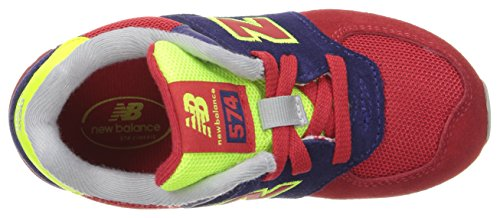 New Balance 574 Cut and Paste, Baskets Basses Mixte Enfant Multicolore (Navy/red)