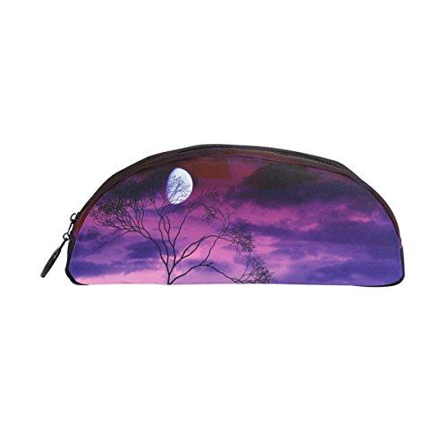 Bleistift Fall Halter Bright Moon Tree Midnight Werwolf Stift Stationery Tasche Tasche mit Reißverschluss Make-up für Kinder Mädchen Jungen