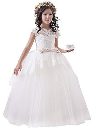 princhar Lace Tulle Flower Girl DressJunior Bridesmaids ... - photo #3