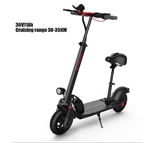 Plegable scooter eléctrico todoterreno profesionales scooter eléctrico de larga distancia crucero scooter eléctrico de 10 pulgadas scooter eléctrico con luces LED de crucero 45 kilometros gama,36v15ah