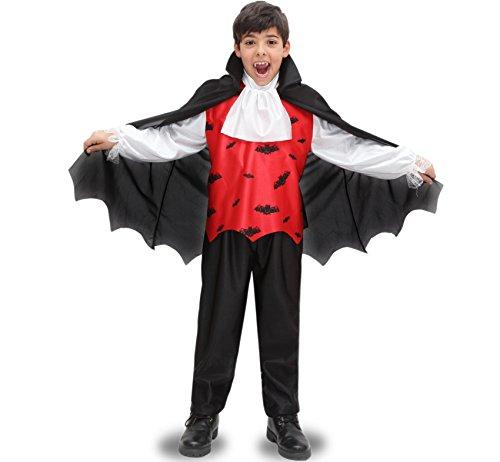 Vestito costume maschera di carnevale halloween bambino - conte dracula p - taglia 9/10 anni 115 cm