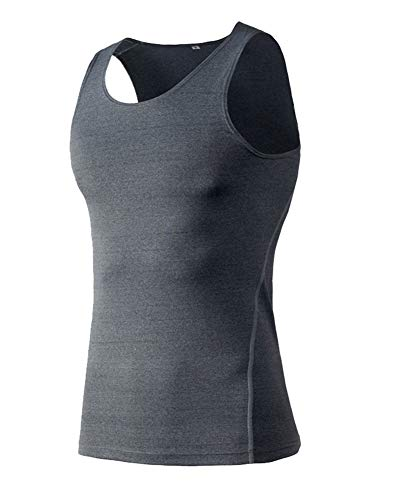 Aden Herren Kompressionsshirt Funktionsshirt Base Layer Ärmellos Tanktop Sports Laufen Fitness