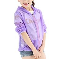TRENDY XU Summer Children Thin UV Protection Coat Hooded Air Conditioning Shirt (100cm(height 39.4