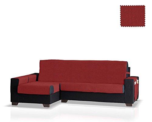 Jm textil salvadivano chaise gea bracciolo sinistro, dimensione normale (245 cm.), colore rosso