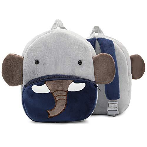 Niños pequeños mochilas lindos de peluche niñas niños pequeños animales mochilas bandoleras para niños menores de 3 años-elefante