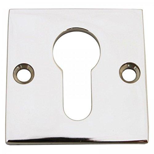 Profilzylinder Rosette einzeln PZ Schlüsselrosette aus Nickel Glanz Tür - Rosette Nickel