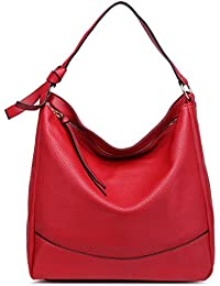 0aac507cb27f Miss Lulu Women Hobo Shoulder Bag Fashion Design Faux Leather Handbag
