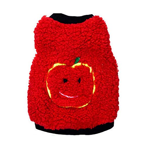 XGPT Hundebekleidung Haustier Kostüm SHU Baumwolle Bestickt niedliche Apfel-Kopf-Haustier - Baumwolle Bestickt Kostüm