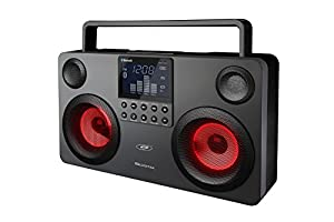 SDigital GB-3700 Commando Bluetooth Boombox (Light Show, USB, MP3, Radio, SD-Kartenleser) dunkel grau/schwarz