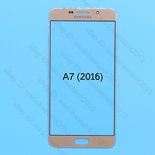 Front Outer Replacement Glass Lens For Samsung Galaxy A7 Gold.