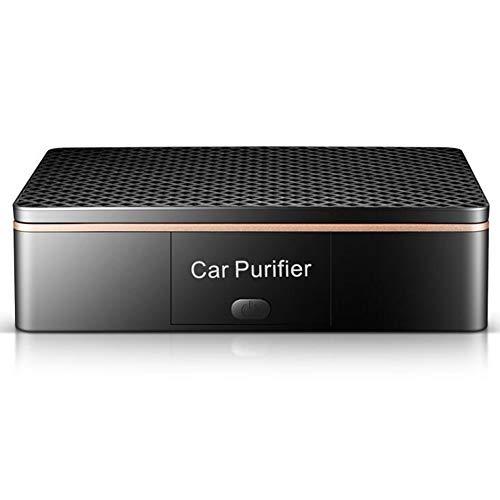 AX Auto-Luftreiniger, Auto-Luftreiniger USB-Auto-Lufterfrischer-Aromatherapie-Maschine und Ionenluftreiniger zusätzlich zum Formaldehyd-Auto-Reiniger,Black