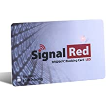Credit Card Protector With LED Light - 1 RFID Blocking Card Does All to Block RFID / NFC Signals form Credit Cards and Passports; Fit in Wallet and Purse