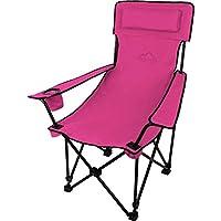 Sehr stabiler Klappstuhl Campingstuhl Angelstuhl mit Getränkehalter, abnehmbarer Polsterung Tragetasche - bis zu 150 kg