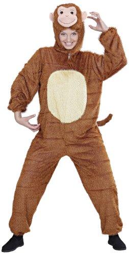 WIDMANN 9943A - Erwachsenenkostüm Affe, Overall mit Maske, Größe M