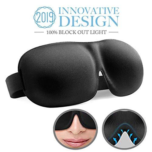Schlafmaske, absolute Dunkelheit Schlafbrille,3D PLUS große Augenmaske, Augenabdeckung Augenbinde, mehr Platz für die Augen, festere Passform auf Ihrer Nase - für Damen & Herren (Kinder Make-up Für Die Eingestellt)