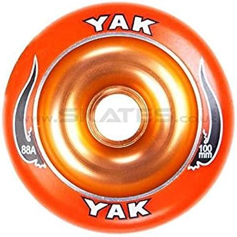 Yak largo 100 mm ruedas Scooter - naranja