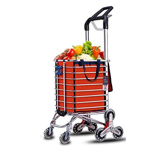 Faltbarer Einkaufswagen Lebensmittelgeschäft-Dienstprogramm-flacher faltender Warenkorb mit dem Rollen-Schwenker-Rad-Hochleistungsleichtgewichtler extragroßer Dienstprogramm-Warenkorb 360 ° Multifunkt - Flache Warenkorb