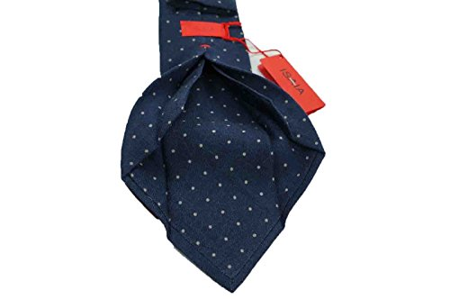 isaia-napoli-cravatta-7-pieghe-in-lana-fatta-a-mano-motivo-a-pois-unico-e-raro