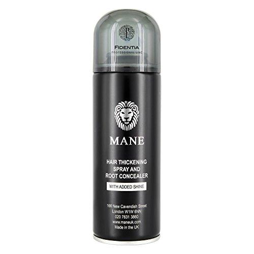 MANE HAARAUFFÜLLER SPRAY | zur Haarverdichtung und Ansatzkaschierung | 100ml, Schwarz - Black (Haar Schwarzes Für Haarspray)