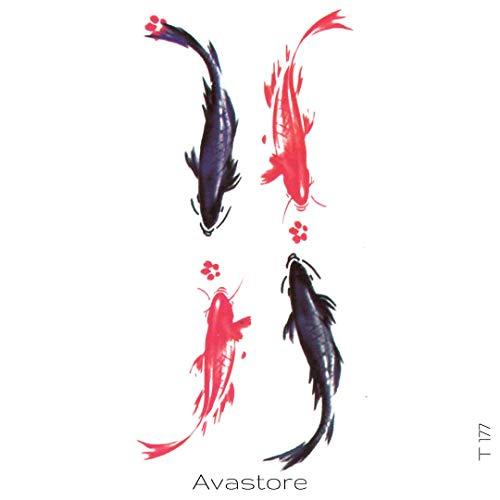Tatuaggio temporaneo pesce carpa avastore