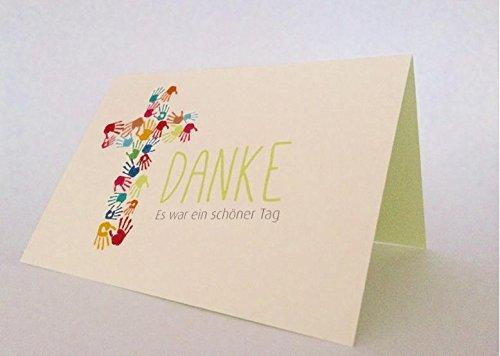 "20 Hochwertige Danksagungskarten Doppelkarte - Klappkarte ""Danke"" Kommunion"
