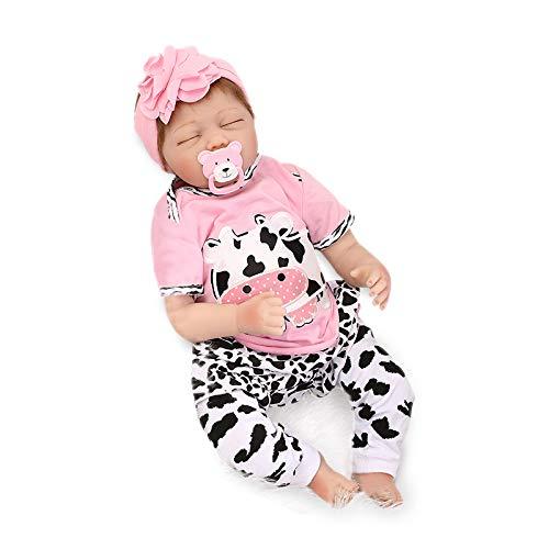 Nicery Reborn Baby Doll Renacer Bebé la Muñeca Vinil Simulación Silicona Suave 22 Pulgadas 55cm Boca Magnética Natural Niña Niño Juguete vívido para 3 años +