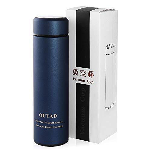 Leak-Proof Portable Stainless Steel Vacuum-Insulated Mug for Outdoor Travel Dark Blue - Leak-proof Insulated Travel Mug