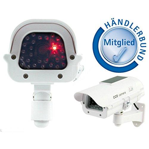 König-panel (König Profi Kamera Dummy mit Solar Panel + blinkender LED - Tolle Überwachungskamera Attrappe CCD IP44 Aussenbereich Kameraatrappe Innen Außen Fake Überwachung Haus Sicherheit Security)