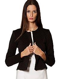 Femme Veste Courte Femmes Vestes Blazer Chic Casual Tailleur Elégante Veste-Boléro Taille 36 38 40 42 (208)