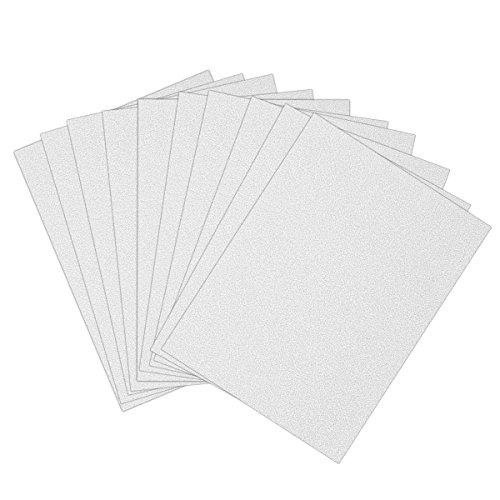 ULTNICE 10pcs Glitter Cardstock Papier Schein A4 Karte für Diy Craftwork (Cardstock Weißen Papier)